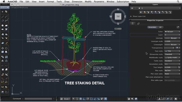 Modifying object properties: AutoCAD 2011: Migrating from Windows to Mac