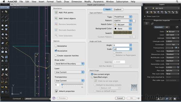 Incorporating hatch patterns: AutoCAD 2011: Migrating from Windows to Mac