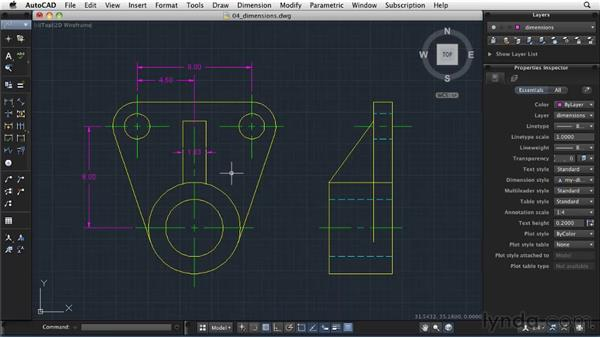 Creating dimensions: AutoCAD 2011: Migrating from Windows to Mac