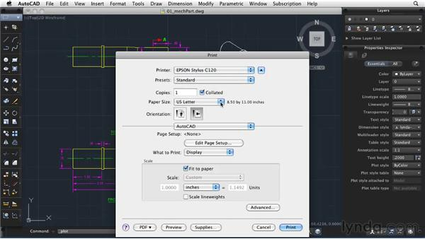 Creating quick plots: AutoCAD 2011: Migrating from Windows to Mac