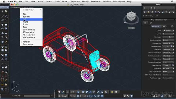 Adjusting views in 3D space: AutoCAD 2011: Migrating from Windows to Mac