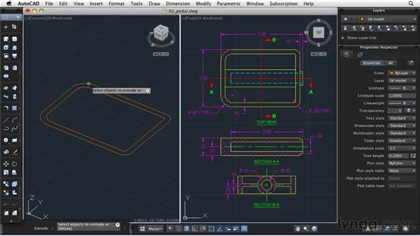 Creating a solid model: AutoCAD 2011: Migrating from Windows to Mac