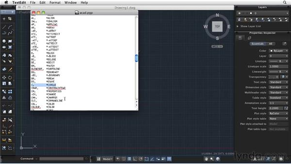 Creating a command alias: AutoCAD 2011: Migrating from Windows to Mac