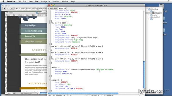 Styling the sidebar: WordPress 3: Creating and Editing Custom Themes