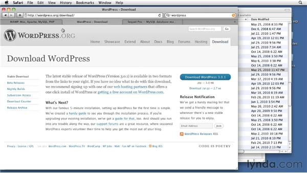 Setting up WordPress and MAMP on a Mac: WordPress 3: Creating and Editing Custom Themes