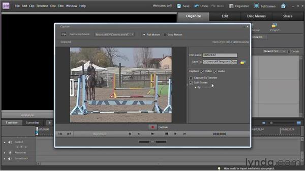 Capturing video from a cassette or a webcam: Premiere Elements 9 Essential Training