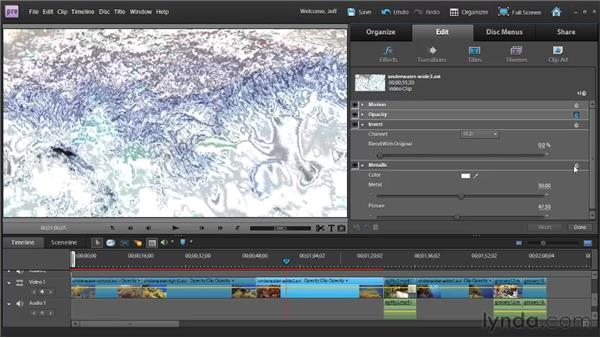Applying and modifying video effects: Premiere Elements 9 Essential Training