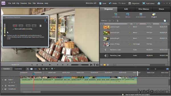 Recording narrations: Premiere Elements 9 Essential Training