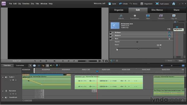 Applying audio effects: Premiere Elements 9 Essential Training