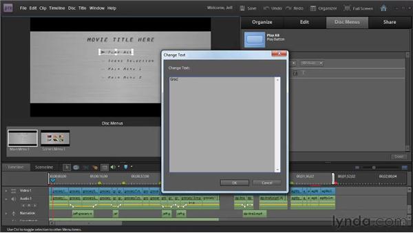 Creating DVD menus using templates: Premiere Elements 9 Essential Training