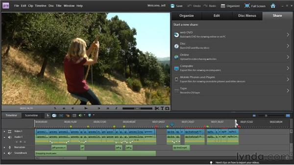 Understanding project exporting: Premiere Elements 9 Essential Training