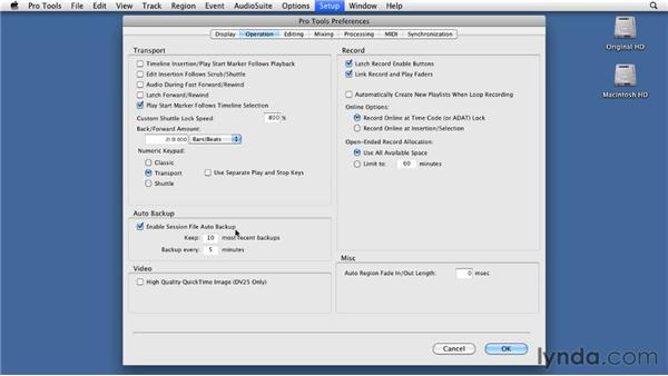 Setting essential preferences: Pro Tools 9 Essential Training