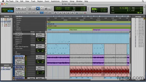 Exploring the Edit window: Pro Tools 9 Essential Training