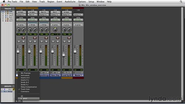 Exploring the Mix window: Pro Tools 9 Essential Training