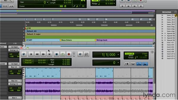 Exploring the Transport and Big Counter windows: Pro Tools 9 Essential Training