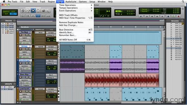 Investigating the menus: Pro Tools 9 Essential Training