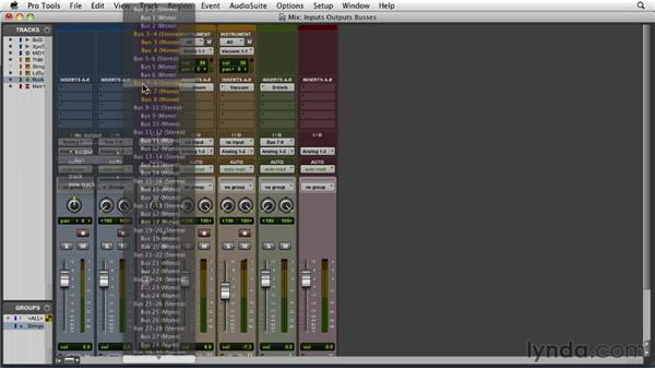 Selecting inputs, outputs, and buses: Pro Tools 9 Essential Training
