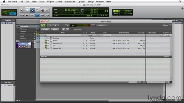 Importing MIDI: Pro Tools 9 Essential Training