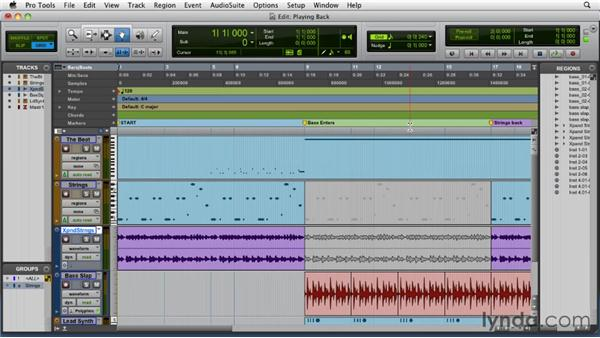 Playing back audio: Pro Tools 9 Essential Training