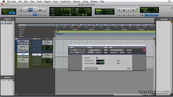 Creating a click track: Pro Tools 9 Essential Training
