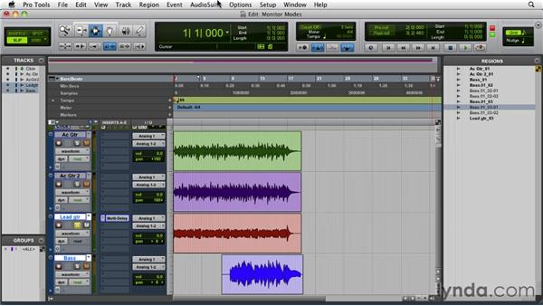 Punch recording and using the monitoring modes: Pro Tools 9 Essential Training
