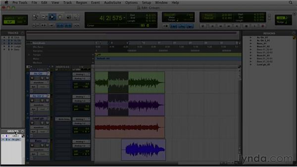 Creating a group: Pro Tools 9 Essential Training