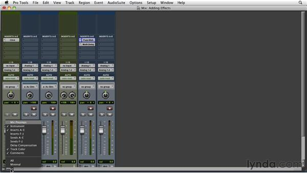 Adding effects while recording : Pro Tools 9 Essential Training