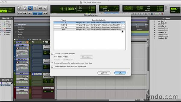 Assigning disk allocation: Pro Tools 9 Essential Training