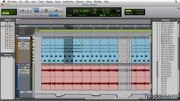 Using the Zoomer tool and Zoom presets: Pro Tools 9 Essential Training