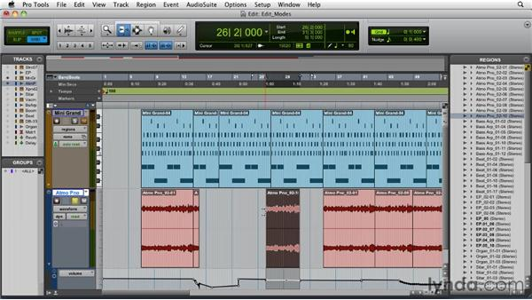 Understanding the Edit modes: Pro Tools 9 Essential Training