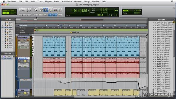 Arranging regions: Pro Tools 9 Essential Training
