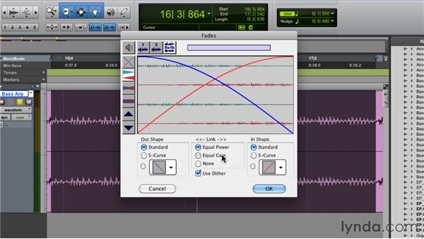 Utilizing fades and crossfades: Pro Tools 9 Essential Training