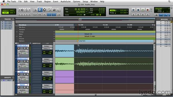 Creating an audio loop: Pro Tools 9 Essential Training