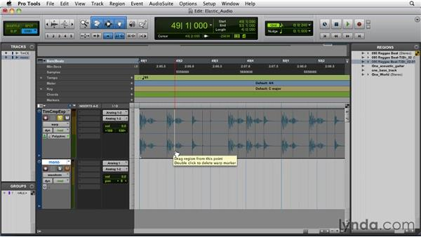 Using Elastic Time and Elastic Pitch: Pro Tools 9 Essential Training