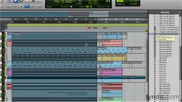 Working with region groups: Pro Tools 9 Essential Training