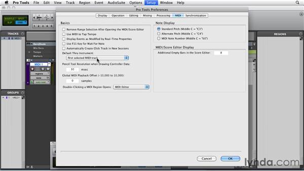 Setting up MIDI in Pro Tools: Pro Tools 9 Essential Training
