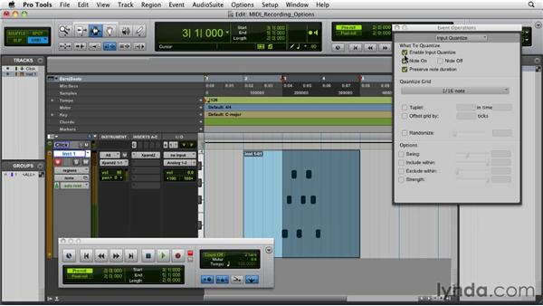 Recording options for MIDI: Pro Tools 9 Essential Training