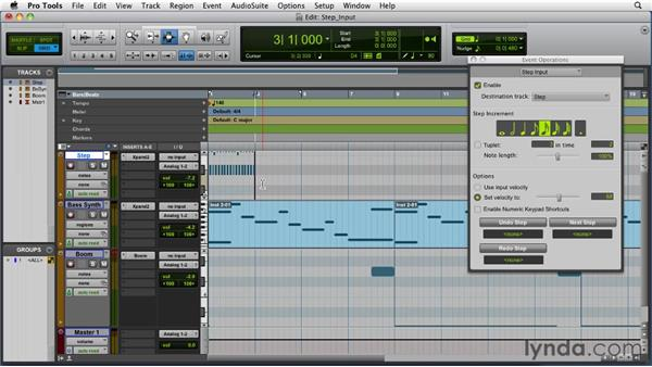 Using step input: Pro Tools 9 Essential Training