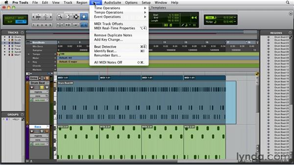 Creating and using groove templates: Pro Tools 9 Essential Training