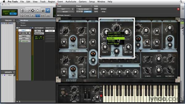 Using MIDI Learn: Pro Tools 9 Essential Training