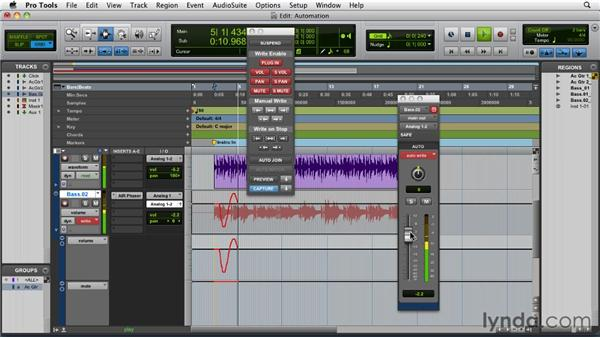 Writing and editing automation: Pro Tools 9 Essential Training