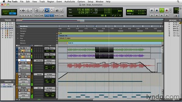 Drawing automation with the Pencil tool: Pro Tools 9 Essential Training