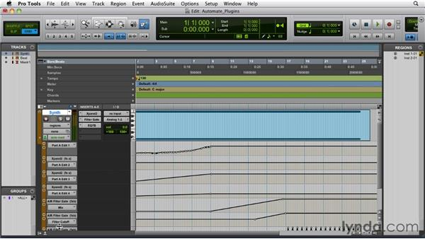 Automating plug-ins and virtual instruments: Pro Tools 9 Essential Training