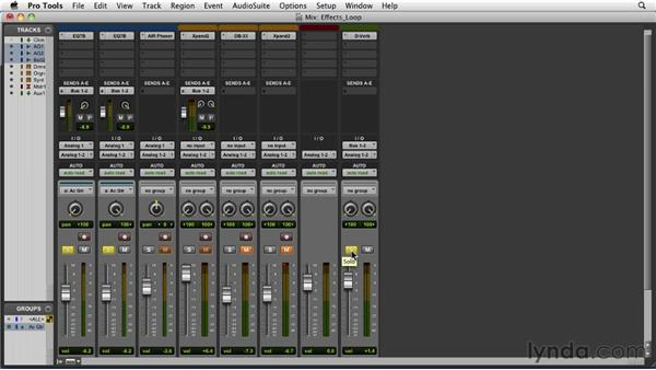 Setting up an effects loop: Pro Tools 9 Essential Training