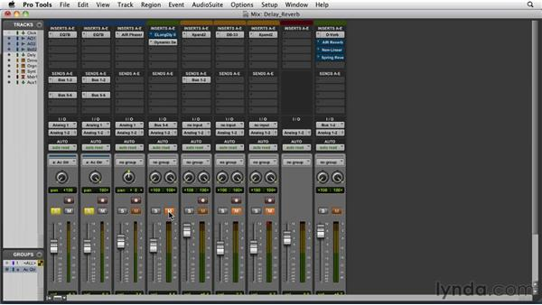 Adding depth effects: Delay and reverb: Pro Tools 9 Essential Training
