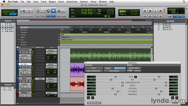 Applying AudioSuite plug-ins: Pro Tools 9 Essential Training