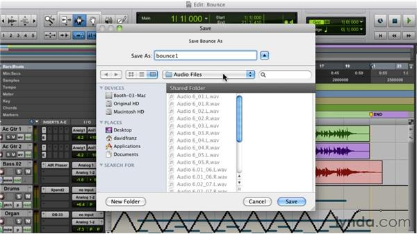 Bouncing down a mix and making an MP3: Pro Tools 9 Essential Training