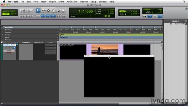 Importing and displaying video files: Pro Tools 9 Essential Training