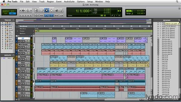 Archiving an entire session: Pro Tools 9 Essential Training