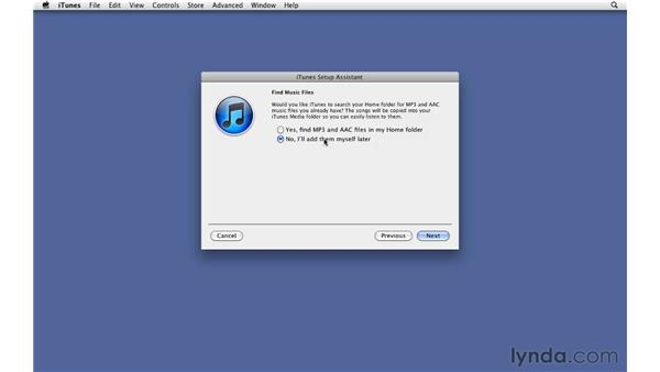 Opening iTunes for the first time: iTunes 10 Essential Training